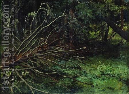 In the fir forest by Ivan Shishkin - Reproduction Oil Painting