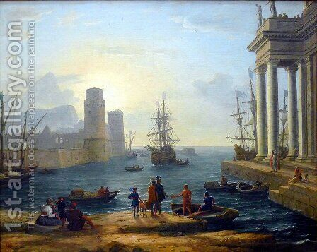 Embarkation of Ulysses by Claude Lorrain (Gellee) - Reproduction Oil Painting