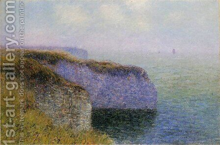 Cliffs of Etretat by Gustave Loiseau - Reproduction Oil Painting