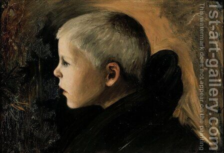 Boy from Sakkijarvi by Hugo Simberg - Reproduction Oil Painting