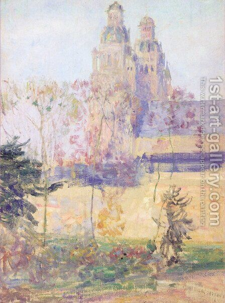 Study for 'The Cathedral Tours' by Guy Rose - Reproduction Oil Painting