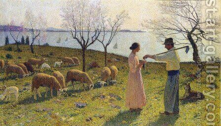 Idylle by Henri Martin - Reproduction Oil Painting