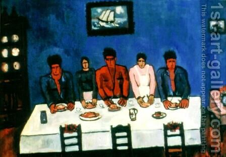 Fisherman's Last Supper by Marsden Hartley - Reproduction Oil Painting