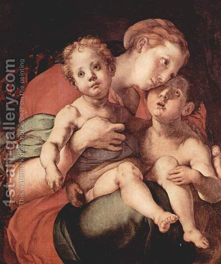Madonna and Child with the Young Saint John by (Jacopo Carucci) Pontormo - Reproduction Oil Painting