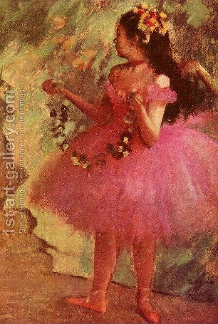 Dancer in pink dress by Edgar Degas - Reproduction Oil Painting