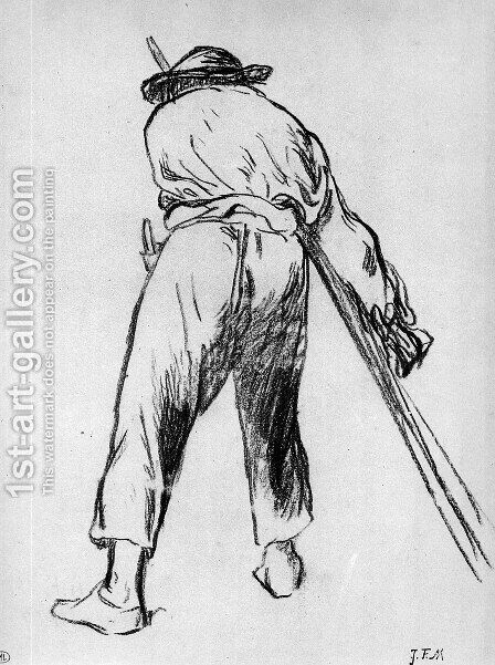 Sketch of moving farmer by Edouard Manet - Reproduction Oil Painting