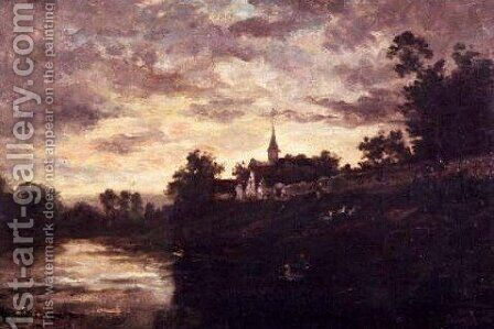 Banks of the Oise by Charles-Francois Daubigny - Reproduction Oil Painting