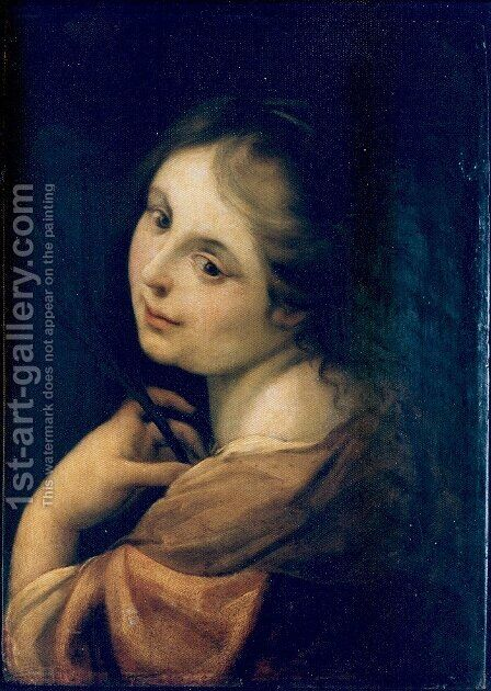 Half figure of a martyr by Correggio (Antonio Allegri) - Reproduction Oil Painting