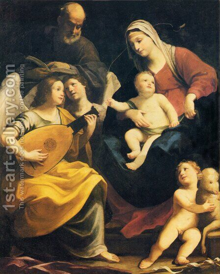 Holy Family by Guido Reni - Reproduction Oil Painting
