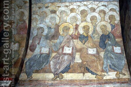 The Last Judgement Angels and apostles by Andrei Rublev - Reproduction Oil Painting