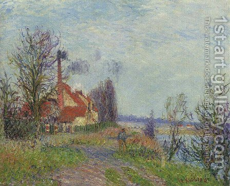 Paper Mill at Port Marly by Gustave Loiseau - Reproduction Oil Painting