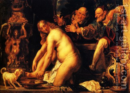Susanna and the Elders by Jacob Jordaens - Reproduction Oil Painting