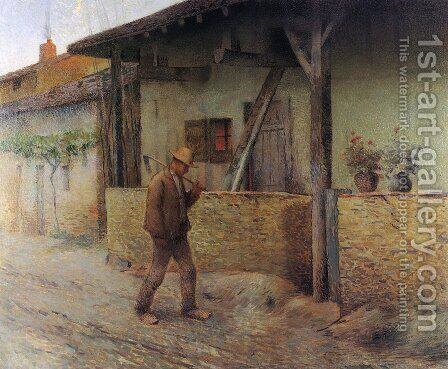 Return from the Fields by Henri Martin - Reproduction Oil Painting
