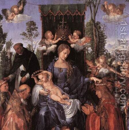 The Lady of the festival du Rosaire(fragment) by Albrecht Durer - Reproduction Oil Painting