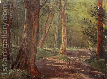 Forest road 2 by Ivan Shishkin - Reproduction Oil Painting