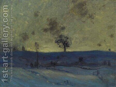 Snowfields, Evening by James Edward Hervey MacDonald - Reproduction Oil Painting
