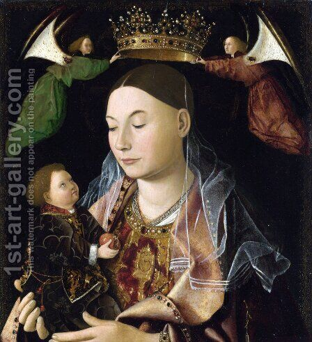 Madonna and Child (Salting Madonna) by Antonello da Messina Messina - Reproduction Oil Painting