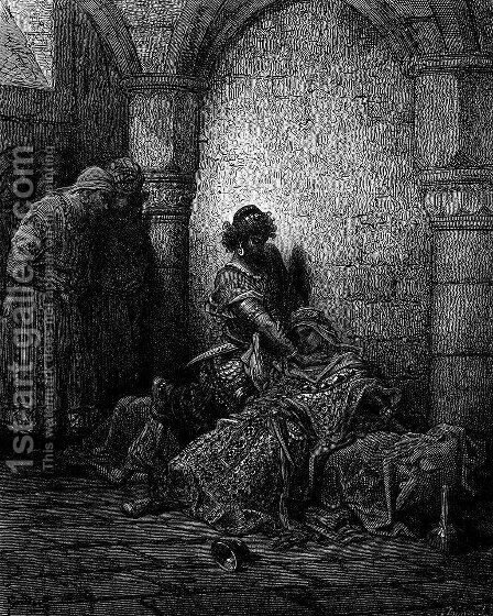 The Emperor Alexius IV Poisoned and Strangled by Mourzoufle by Gustave Dore - Reproduction Oil Painting