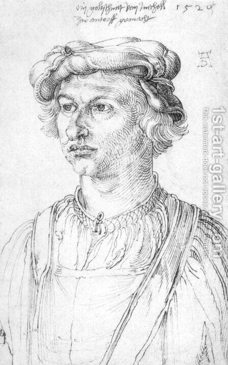 Portrait of a goldsmith from Mechelen by Albrecht Durer - Reproduction Oil Painting