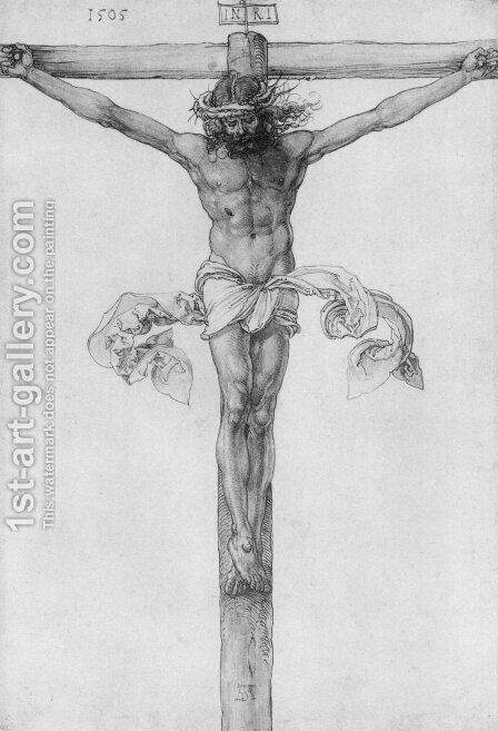 Christ on the Cross by Albrecht Durer - Reproduction Oil Painting