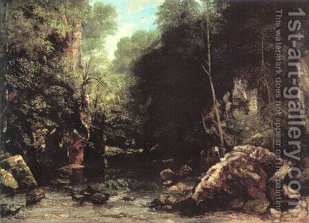 The Black Creek by Gustave Courbet - Reproduction Oil Painting