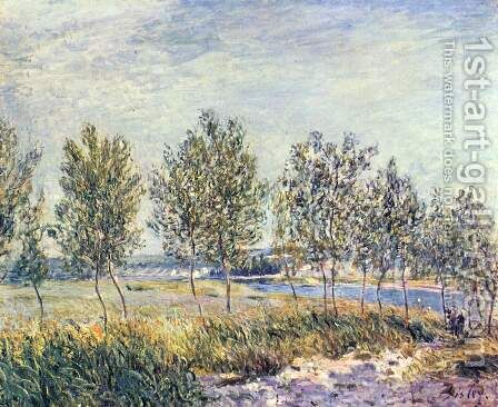 Wiese By by Alfred Sisley - Reproduction Oil Painting