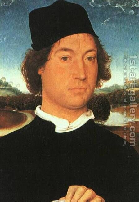 Man with a black cap by Hans Memling - Reproduction Oil Painting