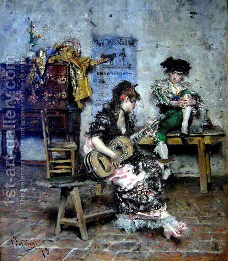 A Guitar Player by Giovanni Boldini - Reproduction Oil Painting