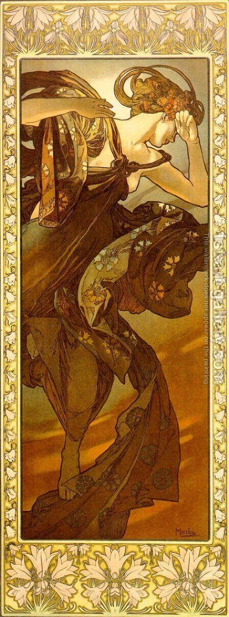 Evestar by Alphonse Maria Mucha - Reproduction Oil Painting