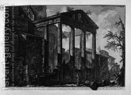 Two capitals and a column base, remnants of ancient buildings in the town of Cora by Giovanni Battista Piranesi - Reproduction Oil Painting