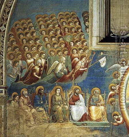 Last Judgment (detail) by Giotto Di Bondone - Reproduction Oil Painting