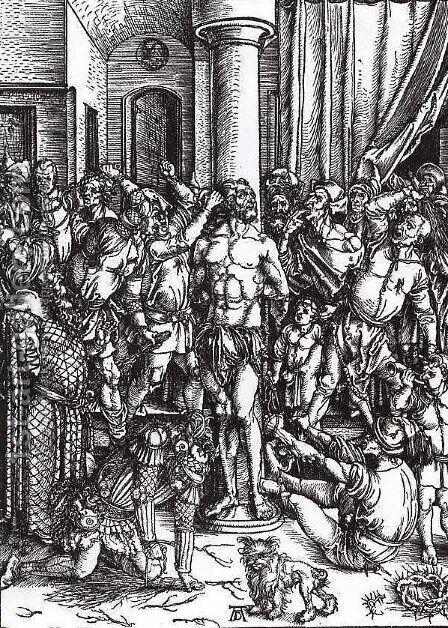 Flagellation of Christ by Albrecht Durer - Reproduction Oil Painting