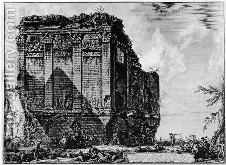 Vedute di Roma 17 by Giovanni Battista Piranesi - Reproduction Oil Painting