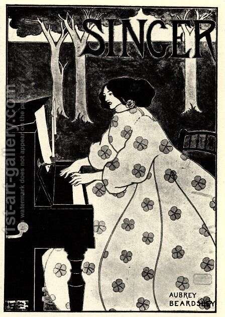 Singer by Aubrey Vincent Beardsley - Reproduction Oil Painting