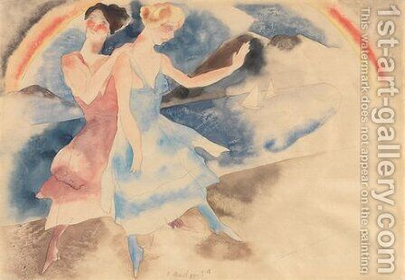 Vaudeville Dancers by Charles Demuth - Reproduction Oil Painting