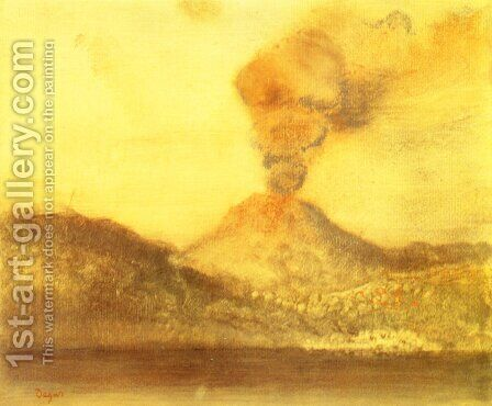 Vesuvius by Edgar Degas - Reproduction Oil Painting