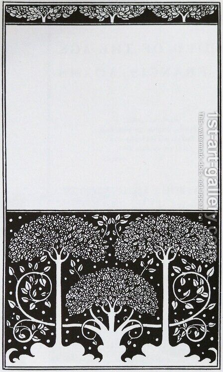 Title page of Grey Ross by Aubrey Vincent Beardsley - Reproduction Oil Painting