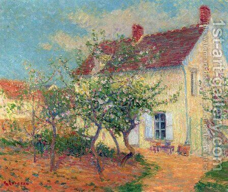House in the Country by Gustave Loiseau - Reproduction Oil Painting