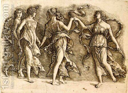 Four Muses by Andrea Mantegna - Reproduction Oil Painting