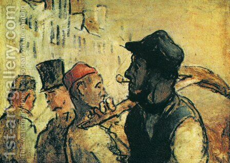 Ouvirers by Honoré Daumier - Reproduction Oil Painting