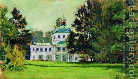 Manor in the park by Boris Kustodiev - Reproduction Oil Painting