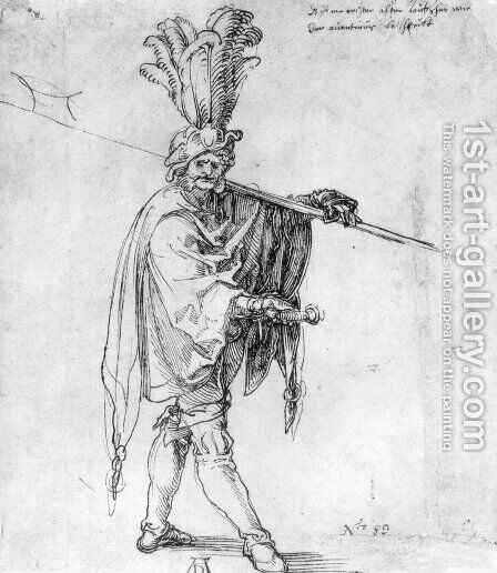 Landsknecht by Albrecht Durer - Reproduction Oil Painting