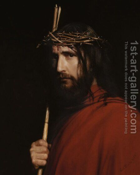 Christ with Thorns by Carl Heinrich Bloch - Reproduction Oil Painting