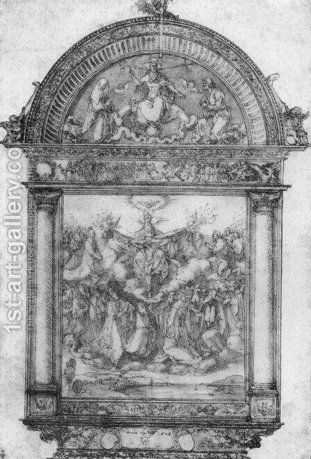 Design for All Saints picture by Albrecht Durer - Reproduction Oil Painting
