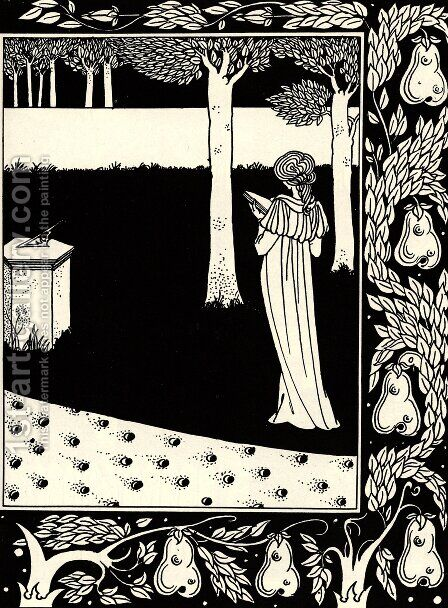 La Beale Isoud at Joyous Gard by Aubrey Vincent Beardsley - Reproduction Oil Painting