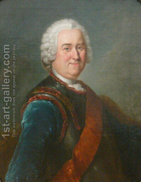 Jakob von Keith by Antoine Pesne - Reproduction Oil Painting