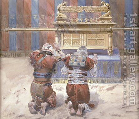 Moses and Joshua In the Tabernacle by James Jacques Joseph Tissot - Reproduction Oil Painting