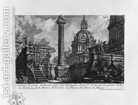 The Roman antiquities, t. 1, Plate XXIX. Trajan's Column. by Giovanni Battista Piranesi - Reproduction Oil Painting