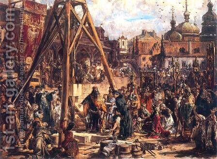 Occupation of Rus by Jan Matejko - Reproduction Oil Painting