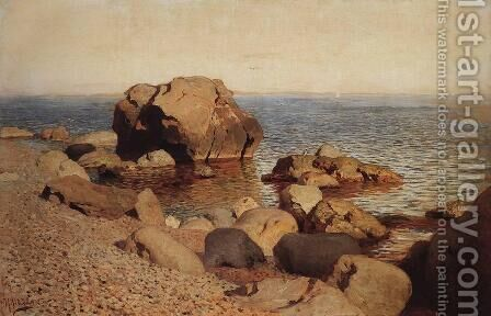 By the seashore by Isaak Ilyich Levitan - Reproduction Oil Painting